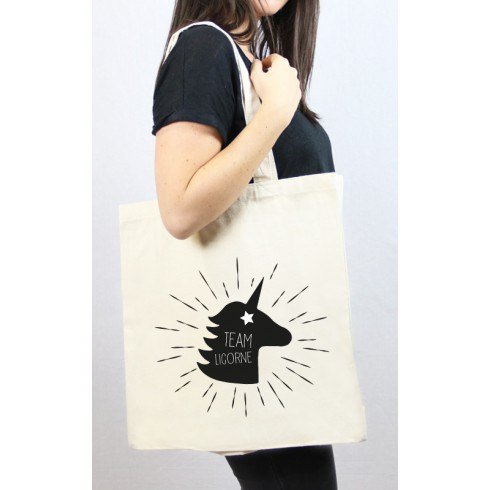Tote bag cabas Team Licorne